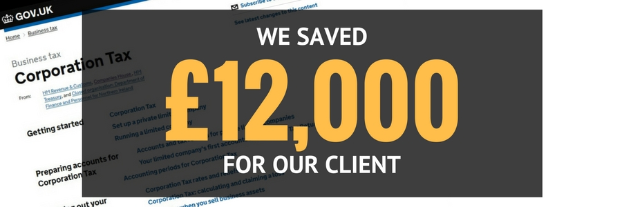 Maze Accountants saved our client £12,000 in Corporation Tax